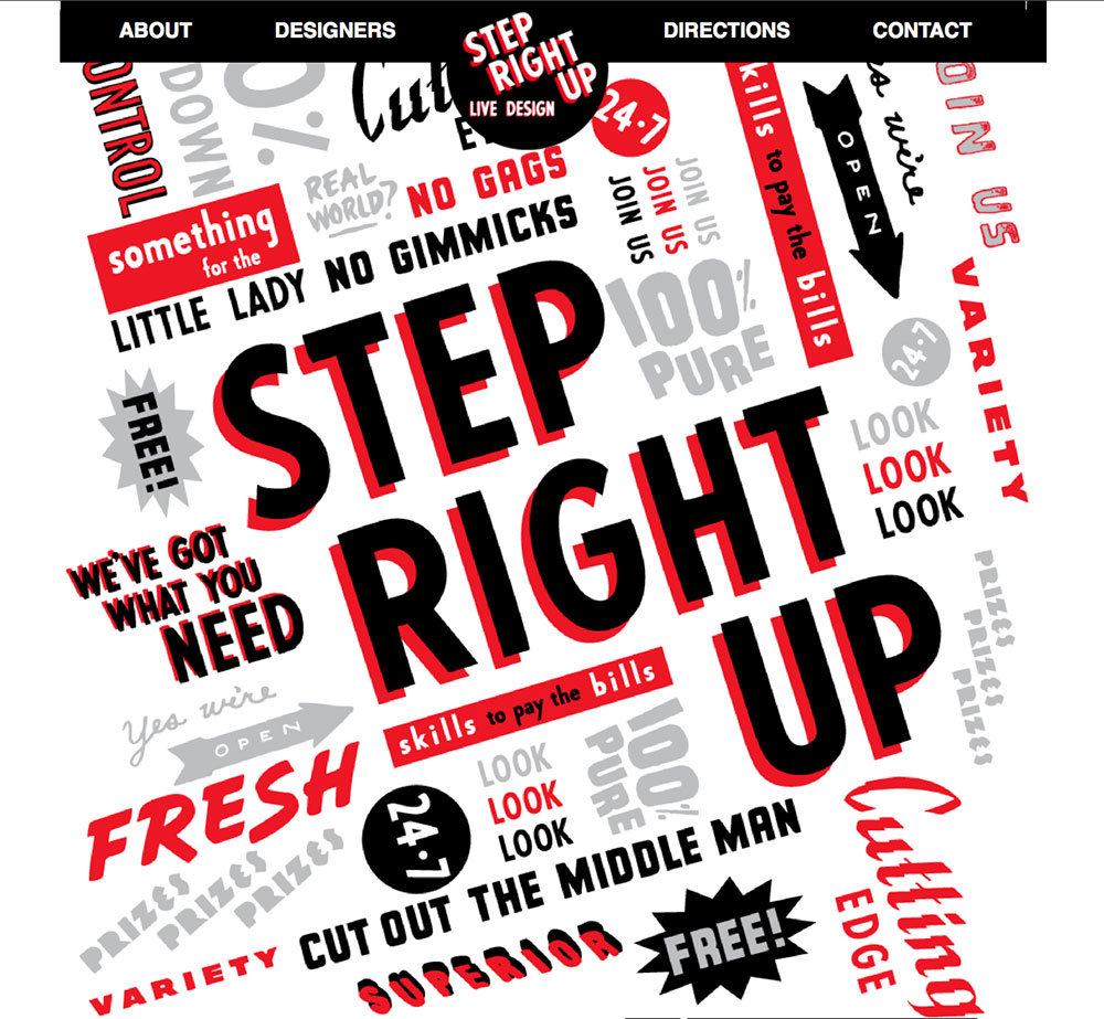 AWARD WINNING: Step Right Up Website