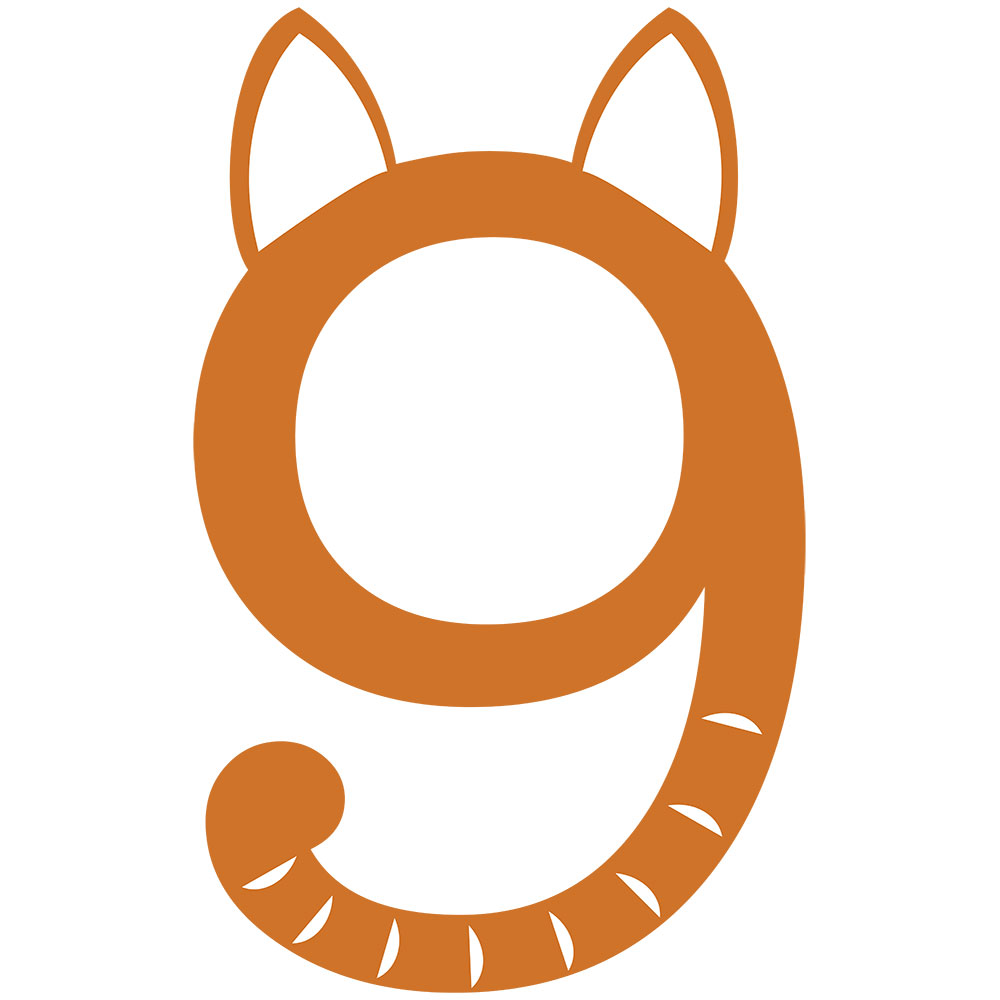 Simple and Adorable Logo for Nine Lives