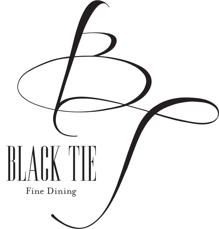 Expensive And Simple Branding For Black Tie Fine Dining