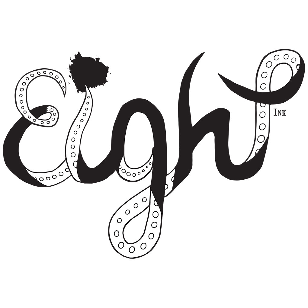 Impressive And Bold Hand Drawn Logo For Eight Ink
