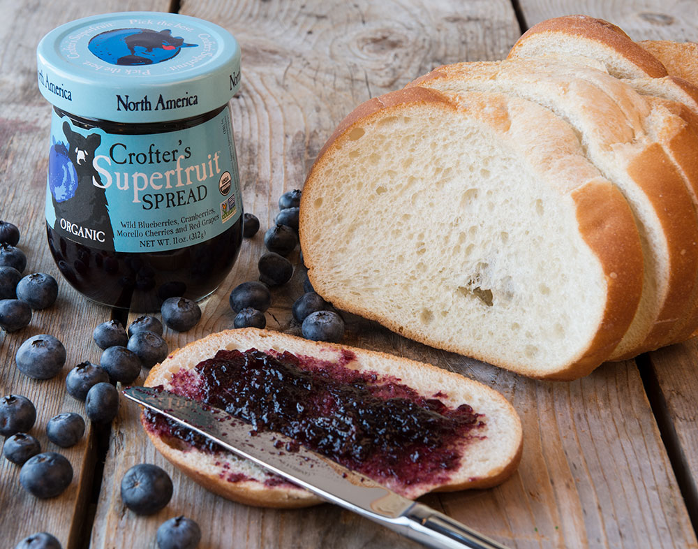 Organic And Intense Superfruit Spread Photographed On Bread