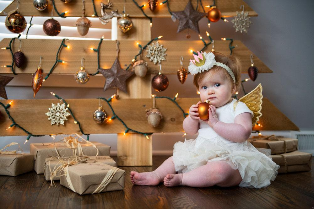 Rustic Christmas Baby Luxurious Tree Ornaments Decor