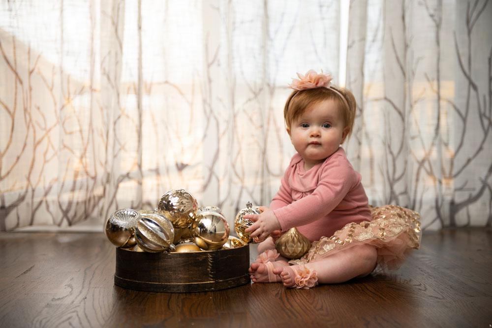 Heartwarming Christmas Baby Beautiful Dressed Up Rustic Bold Decor Ornaments