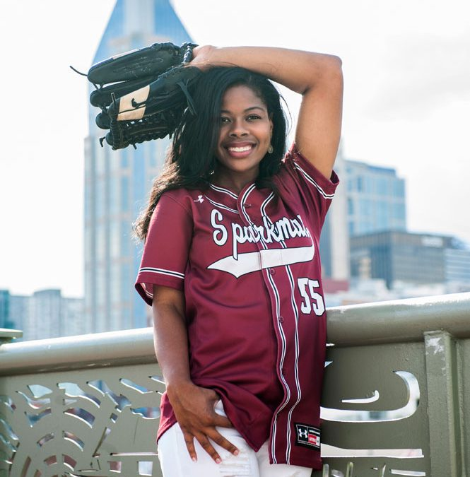 Pedestrian Bridge Nashville Portraits Senior Softball Graduate